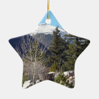 Colorado mountain ceramic ornament