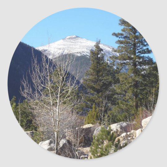Colorado mountain classic round sticker