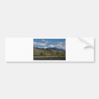 Colorado Mountain Fall Scene Bumper Stickers