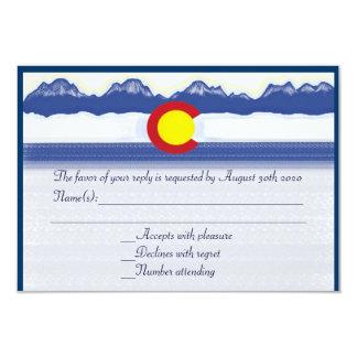 "Colorado mountain flag custom wedding RSVP cards 3.5"" X 5"" Invitation Card"