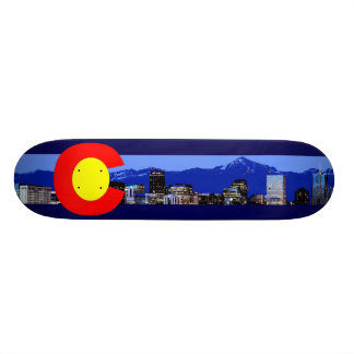 Colorado Mountain Flag Skateboard Deck