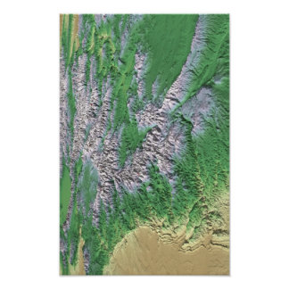 Colorado Mountain Ranges Poster