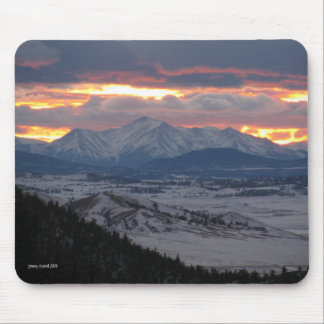 Colorado Mountain Sunset Mousepad