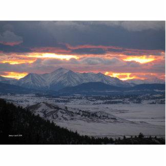 Colorado Mountain Sunset Photo Sculpture