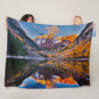 Colorado Mountains Acrylic Landscape Art Fleece Blanket