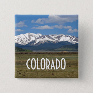 Colorado Mountains Button