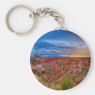 Colorado National Monument Evening Storms Basic Round Button Keychain