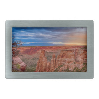 Colorado National Monument Evening Storms Belt Buckle