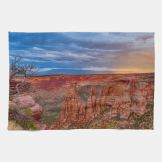 Colorado National Monument Evening Storms Kitchen Towel