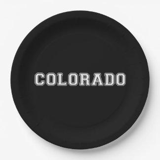 Colorado Paper Plate