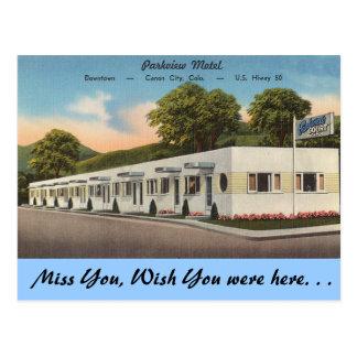 Colorado, Parkview Motel Postcard