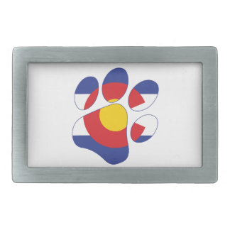Colorado Pet Paw Belt Buckles