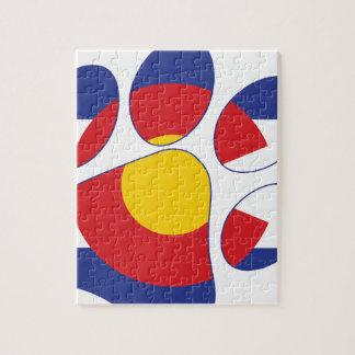Colorado Pet Paw Jigsaw Puzzle