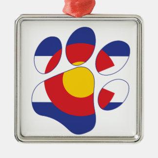 Colorado Pet Paw Metal Ornament