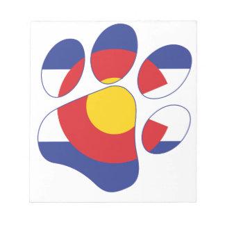Colorado Pet Paw Notepad