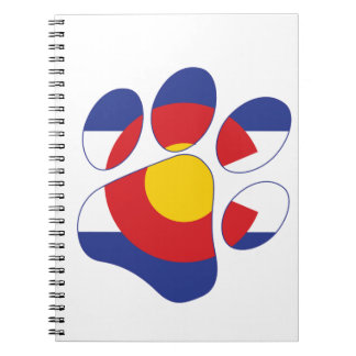 Colorado Pet Paw Spiral Notebook