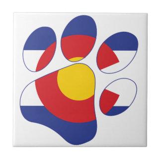 Colorado Pet Paw Tile