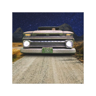 Colorado Pickup Truck Toasted Autos Wrapped Canvas
