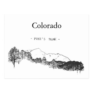 Colorado Pikes Peak Postcard
