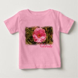 Colorado pink flower baby shirt