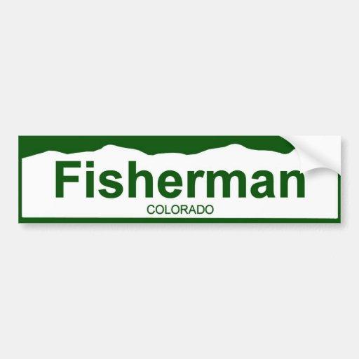 colorado plate new - FISHERMAN Bumper Sticker