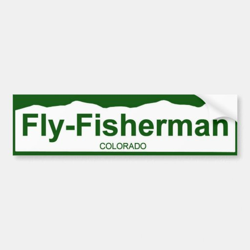 colorado plate new - Fly-fisherman Bumper Sticker