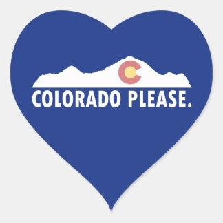 Colorado Please Heart Sticker