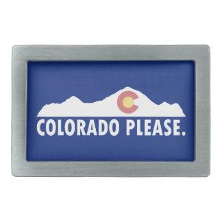 Colorado Please Rectangular Belt Buckle