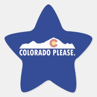 Colorado Please Star Sticker