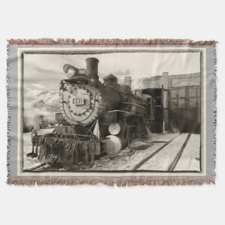 Colorado Railroad Museum Engine 491 Throw Blanket