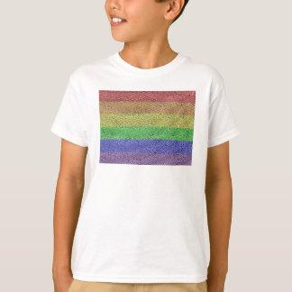 Colorado Rainbow Pride Flag Mosaic T-Shirt