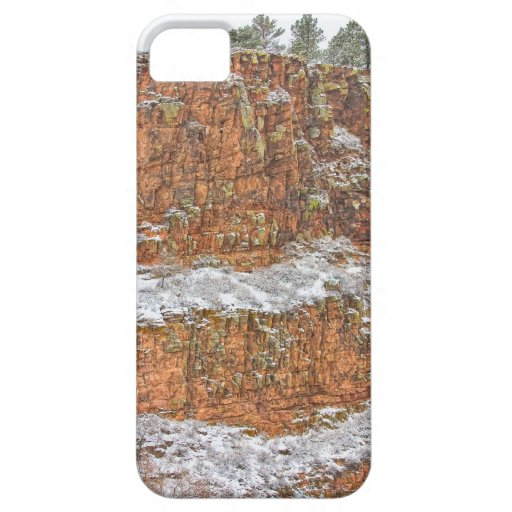 Colorado Red Sandstone Country Dusted with Snow iPhone 5 Case