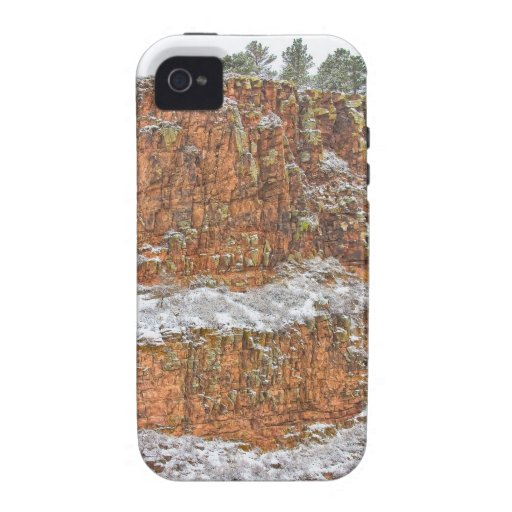Colorado Red Sandstone Country Dusted with Snow iPhone 4 Cover