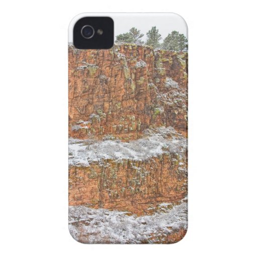 Colorado Red Sandstone Country Dusted with Snow iPhone 4 Case-Mate Cases