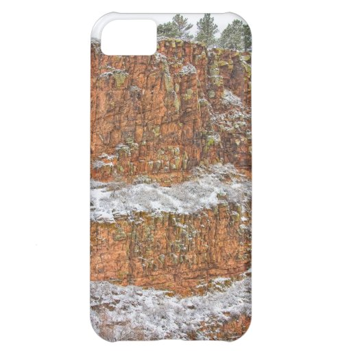 Colorado Red Sandstone Country Dusted with Snow iPhone 5C Case