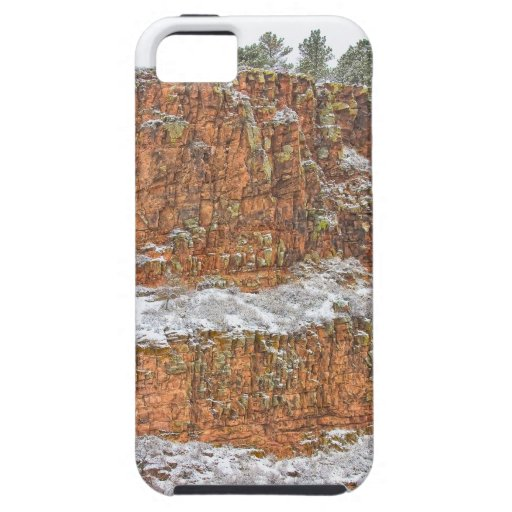 Colorado Red Sandstone Country Dusted with Snow iPhone 5 Cases