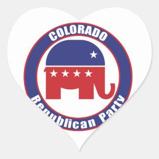 Colorado Republican Party Heart Stickers