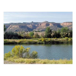 Colorado River at Fruita, Colorado in September Postcard