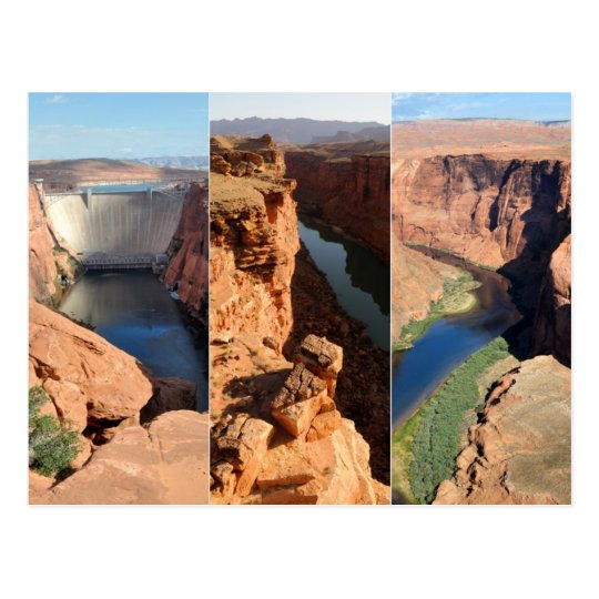Colorado River Collage - Desert Southwest Postcard