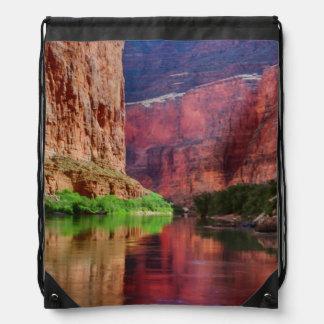 Colorado river in Grand Canyon, AZ Drawstring Bag