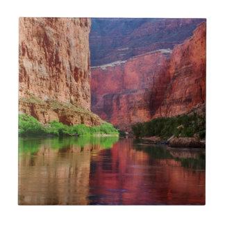 Colorado river in Grand Canyon, AZ Tile