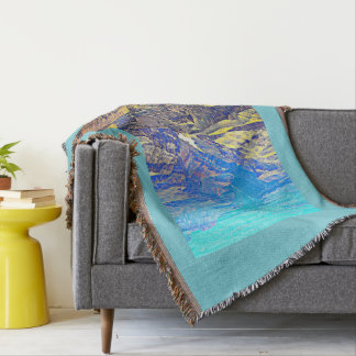 Colorado River in Grand Canyon Throw Blanket
