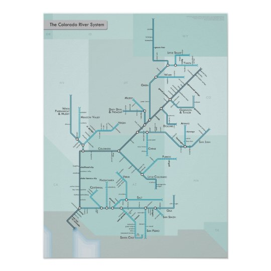 "Colorado River System 18"" x 24"" Poster"