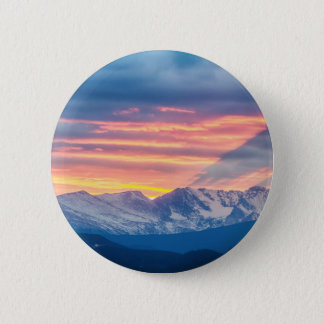 Colorado Rocky Mountain Sunset Waves Of Light Part 2 Inch Round Button