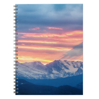 Colorado Rocky Mountain Sunset Waves Of Light Part Spiral Notebook