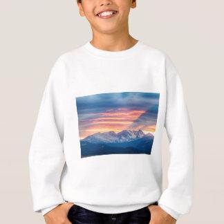 Colorado Rocky Mountain Sunset Waves Of Light Part Sweatshirt