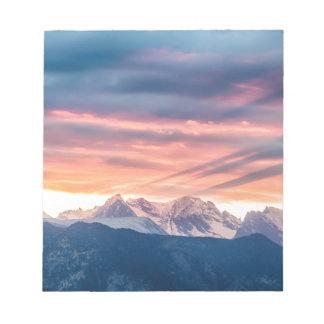 Colorado Rocky Mountain Sunset Waves Of Light Pt 2 Notepad