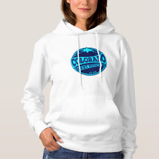 Colorado Rocky Mountains blue teal ink hoodie