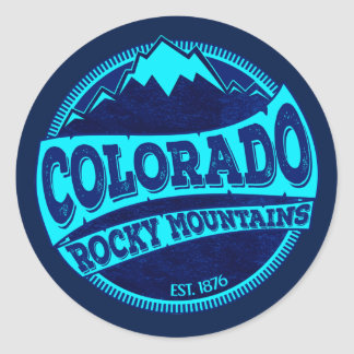 Colorado Rocky Mountains teal blue ink stickers