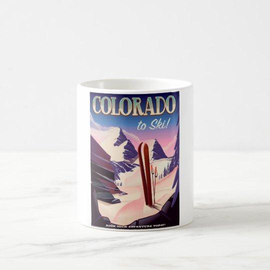 Colorado Ski print - USA vintage ski sports poster Coffee Mug